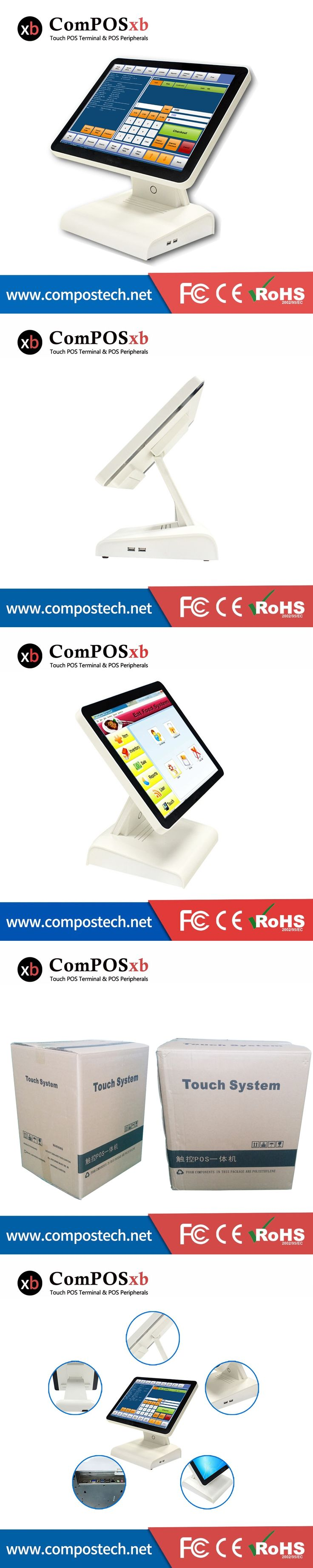 15 Inch Epos System Point Of Sale J1900 Quad Core 2.0GHz All In One Windows OS POS System For Retail Business