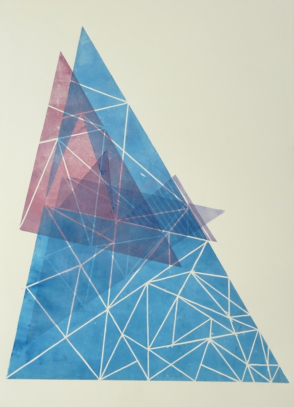 #linocut #geometric #triangle #blue #geometric #geometry #nature #triangles #design