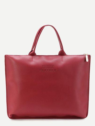 Oversized PU Plain Tote Bag