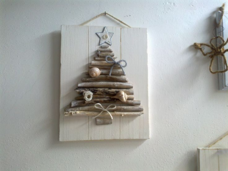 Lovely use for driftwood and shells gathered on vacation
