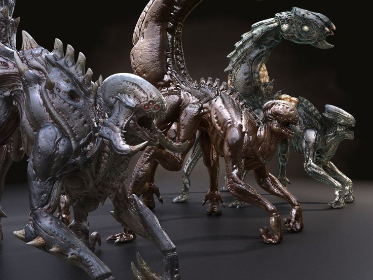 Alien Zerg game spider xenomorph monster beast mutant Scorpio creature dragon horror Insect