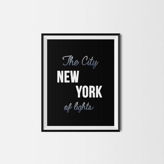 New York printable design 8x10 printable by LovePrintableArt