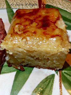 Gateau de pommes de terre et oignons