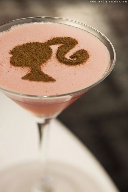 *the ULTIMATE fashionista martini* ~ http://VIPsAccess.com/luxury-hotels-caribbean.html: Happy Hour, Barbie Martini, Barbie Girl, Food, Pink, Drinks, Barbie Cocktail, Cocktails