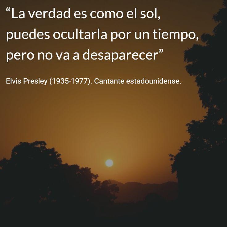 Elvis Presley (1935-1977). Cantante estadounidense. #citas #frases