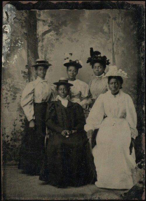 Portrait of a group of young ladies, ca. 1880  Part of the Randolph Linsly Simpson African-American Collection. Yale Collection of American Literature, Beinecke Manuscript Library