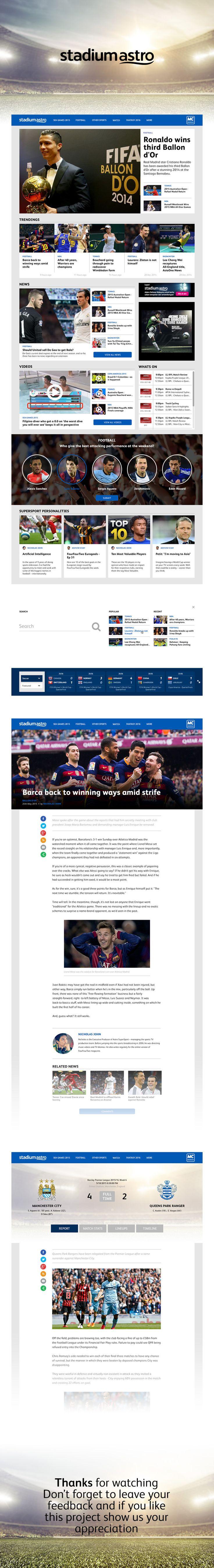 Stadium Astro Website redesign on Behance