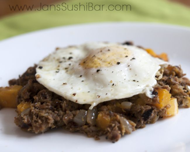 Roast Beef and Butternut Squash Hash