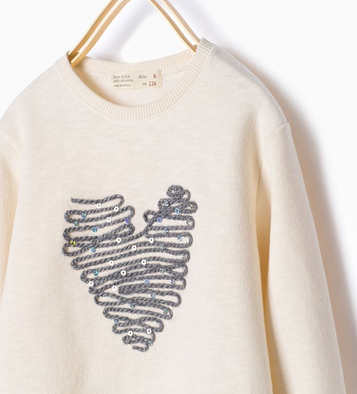 Embroidered appliqué sweatshirt-Tops-Girl-COLLECTION AW15 | ZARA United States