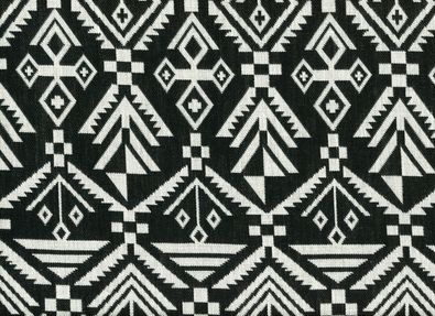 Aslan Jacquard Fabric Black