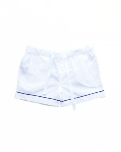 Classic White Cotton PJ Shorts www.hummingbirdnightwear.com