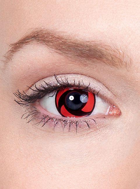Itachis Mangekyou Sharingan Kontaktlinsen #contactlenses #halloween #sfx #black #red #cosplay #naruto