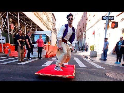 ALADDIN MAGIC CARPET PRANK - YouTube