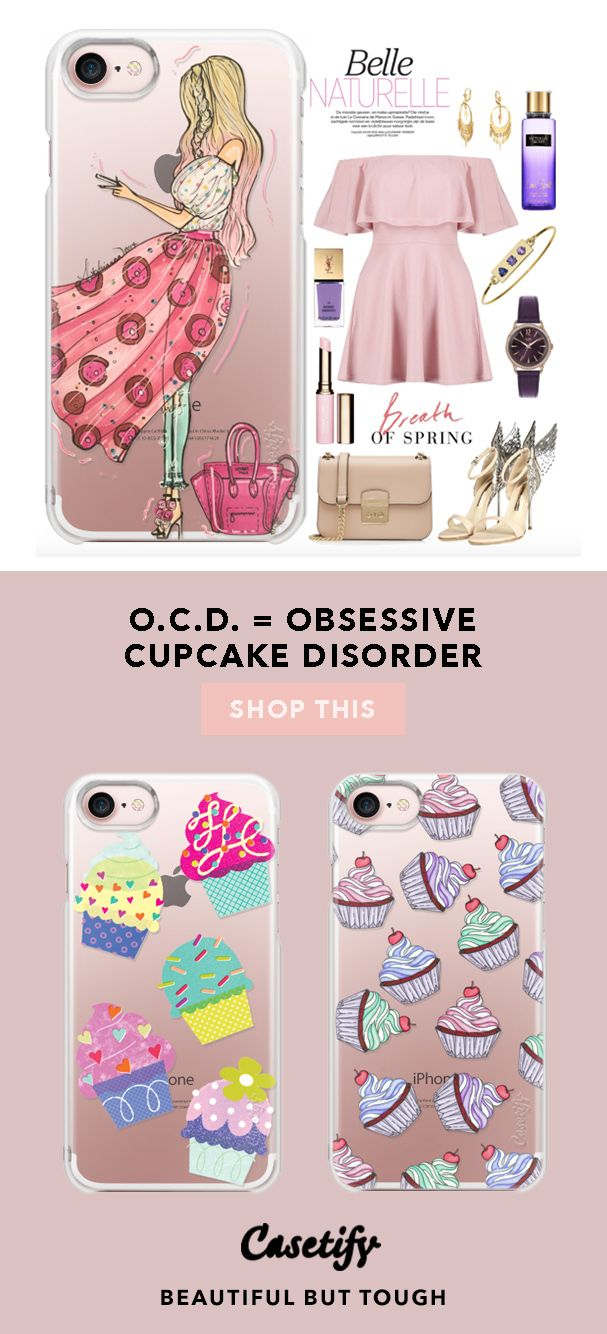 """""""O.C.D. = Obsessive Cupcakes Disorder.""""      Top iPhone 7 Cases and iPhone 7 Plus Cases for Cupcake Lovers. For more Desserts Cases, shop them here ☝☝☝ BEAUTIFUL BUT TOUGH ✨ - Decoration, Recipes, Ideas, Vanilla, Chocolate, Recetas, Easy, Lemon, Oreo, Red Velvet"""