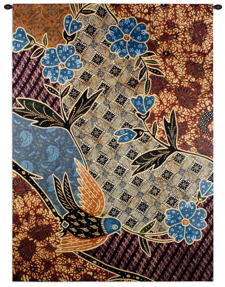 Floral Batik Tapestry