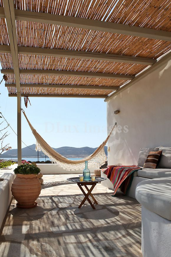 cycladic outdoor living room