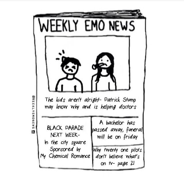 And this just in: STILL NO MCR. Stay Emo, my friends