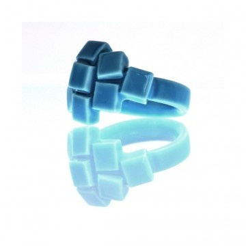 Ring Pool Blue porcelain ring