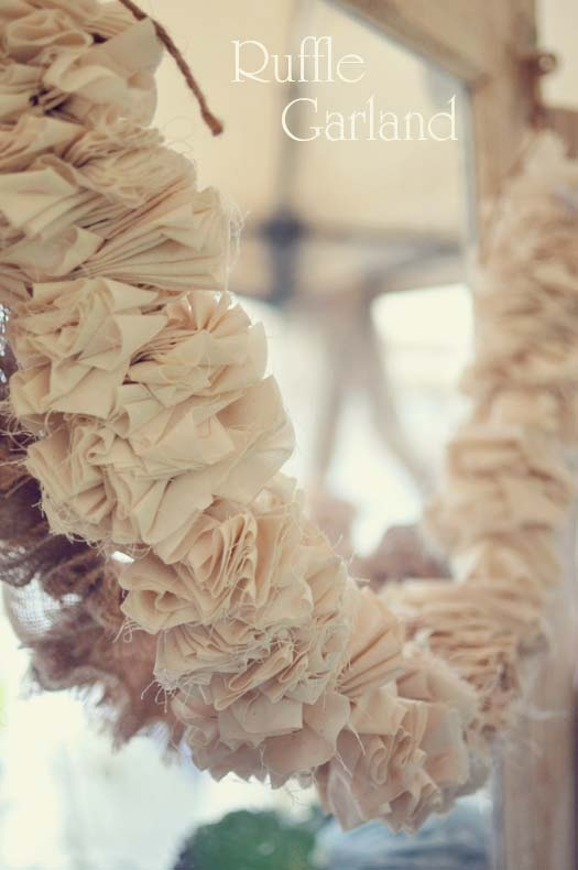 Lovely muslin and twine garland from Count Your Blessings