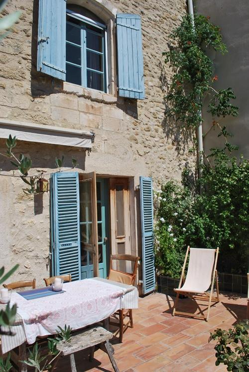 Idyllic french country courtyard