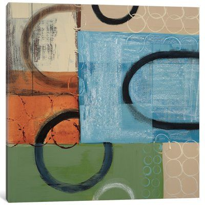 """East Urban Home 'Going in Circles' Painting Print on Canvas Size: 12"""" H x 12"""" W x 0.75"""" D"""