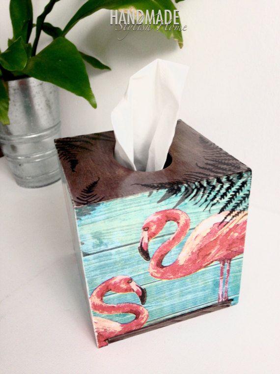 pink flamingo tissue box cover flamingo kleenex box cover