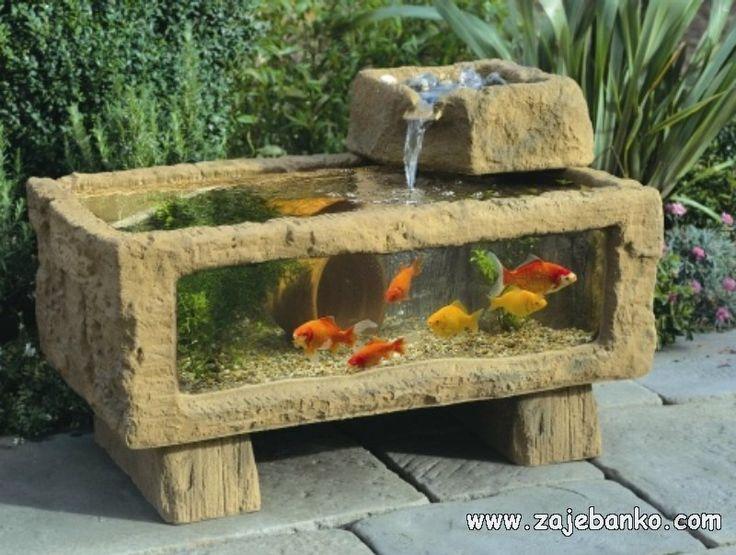 Fonte/aquário para jardim