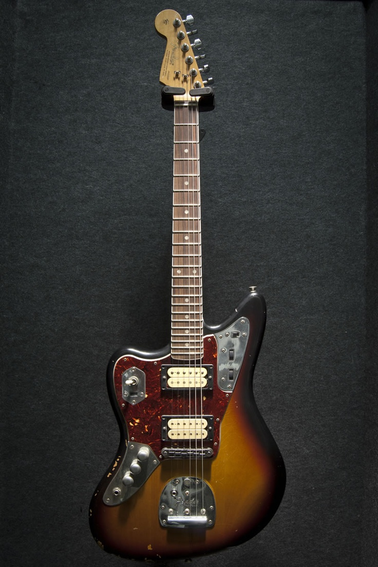 fender kurt cobain signature jaguar sunburst left handed. Black Bedroom Furniture Sets. Home Design Ideas