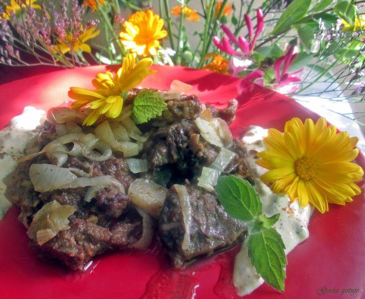 Gosia gotuje: Wątróbka wieprzowa z sosem kaparowym