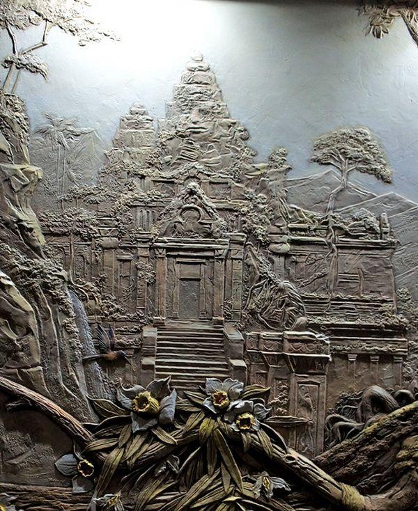Рельефная роспись в современном интерьере - Ярмарка Мастеров - ручная работа, handmade