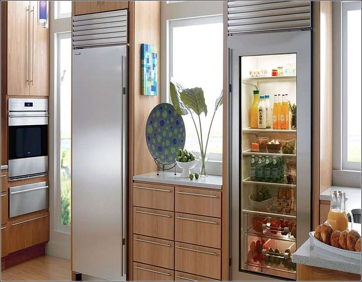 Illustration of Have a Glass Front Refrigerator Residential in Your Home without Feeling like a Shop