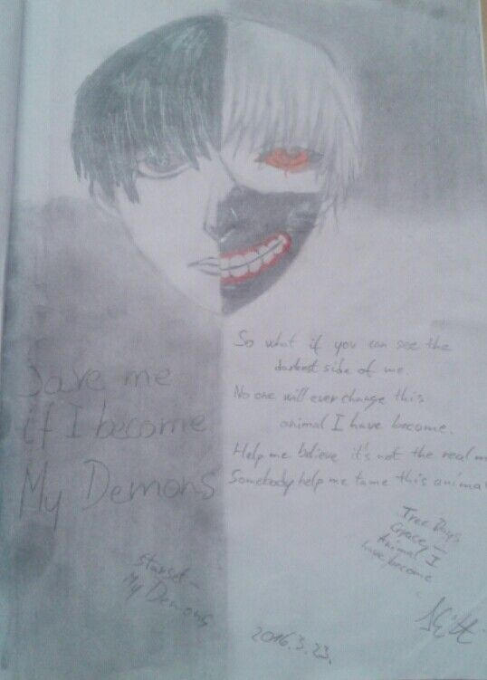 23.3.2016 (Starset - My Demons + Three Days Grace - Animal I have become) Tokyo Ghoul