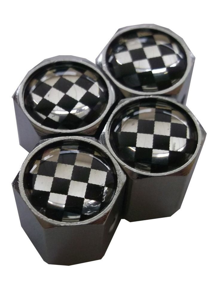Ozdobné kryty na ventily s logom Šachovnica