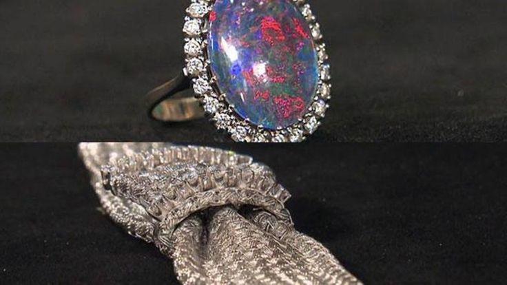 Diamantarmband, 60er/70er, Weissgold - Goldwert 1700 / Verkauf 2500-2800 €   Opalring 200 - 300 €, in schlechtem Zustand