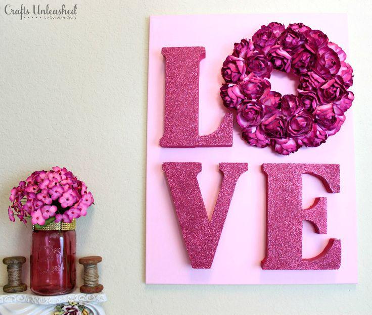 Love Decor Tutorial: Valentines Wall Art - Crafts Unleashed