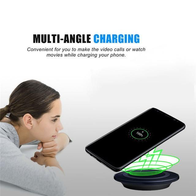 Woweinew2017 New Hot Qi Wireless Power Charger Charging Pad For Samsung Galaxy S8/S8 Plus With a USB Cable