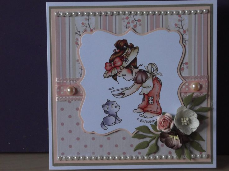 Card made using the gorgeous Hobby House Topper 'Little Treasures'