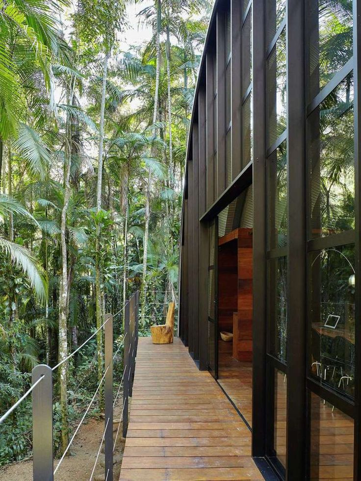 The Arca retreat in Brazil's rainforest welcomes guests to a unique tiny house.  You'll not only be surrounded by the jungle, you'll be nestled in a cozy modern bungalow distant from the distractions of the world.