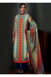 Superb Thread Embroidered Pashmina Casual Salwar Suit