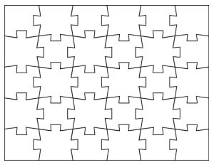 Jigsaw Puzzle Template-04