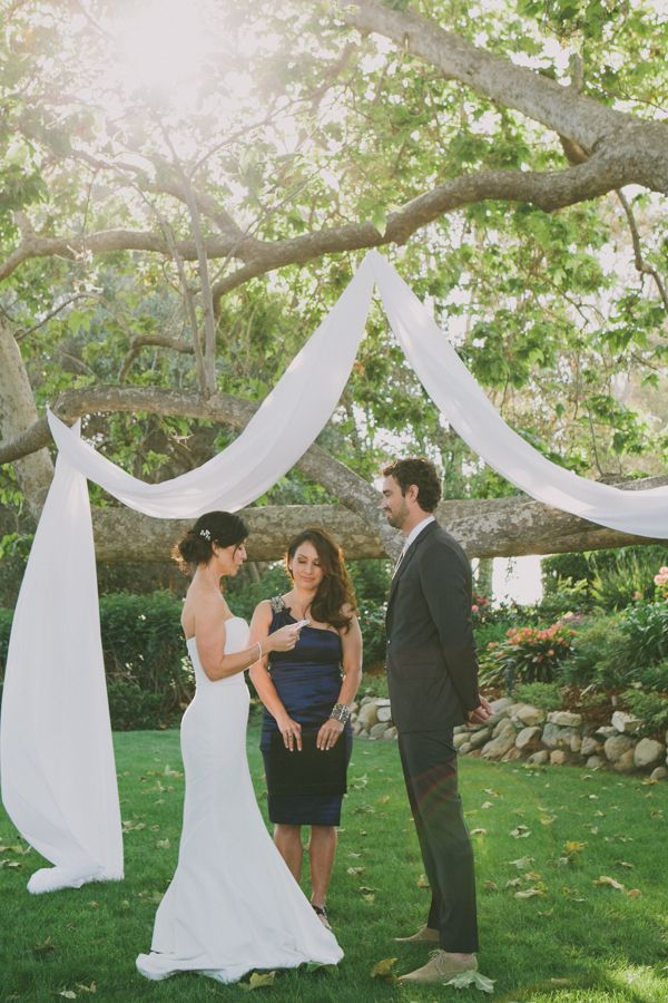 decorating ideas for outside wedding ceremony%0A Malibu Beach Wedding in Pink and White  Wedding Ceremony ArchOutdoor