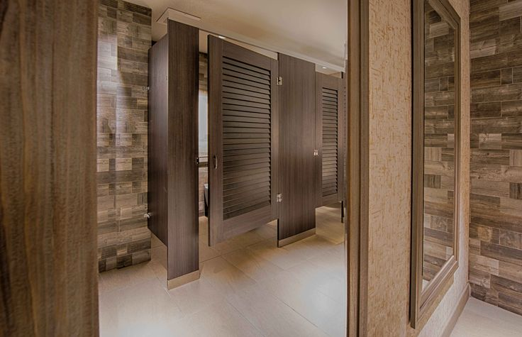 32 best high privacy toilet partitions images on pinterest for Louvered bathroom stall doors