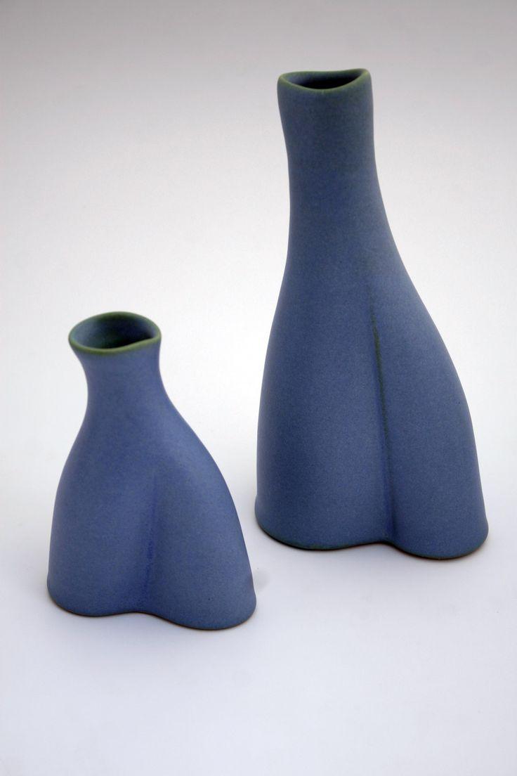 Leaning Vases I