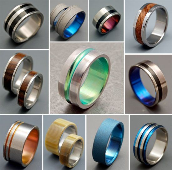I <3 these unique wedding bands for men!