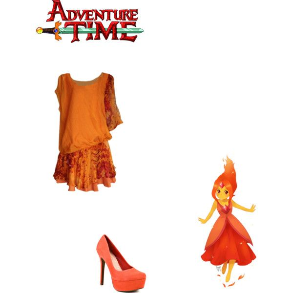 """Roxann's adveture time outfit (Flame princess)"" by skittil on Polyvore"
