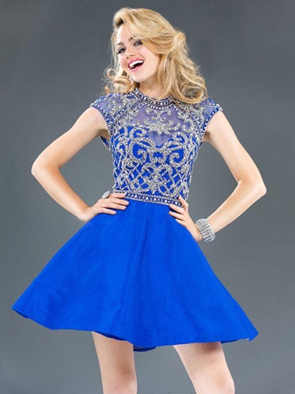 e099c799965  124.99 Everytide.com Best Homecoming Dress Wholesale Blue Semi Formal  Dresses For Juniors