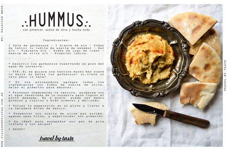 Receta facilísima de Hummus.. para picar algo rico!