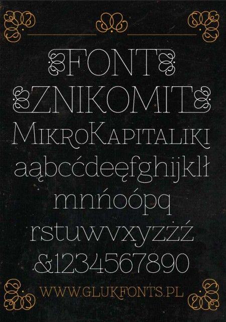 ヴィンテージな背景素材に似合う英字フリーフォント『Znikomit』商用可 - Free-Style