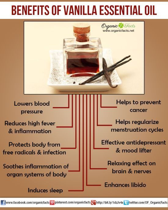 The health benefits of Vanilla Essential Oil can be attributed to its properties like anti oxidant, aphrodisiac, anti carcinogenic, febrifuge, sedative.