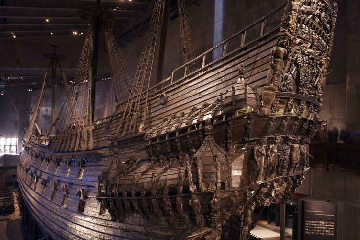 The warship Vasa took her first and last voyage on the 10:th of August 1628. It sailed a mere 1300 m on its maiden voyage. 333 years later it was lifted to the surface again and moved to the Wasa shipyard. Photo; Ola Ericson